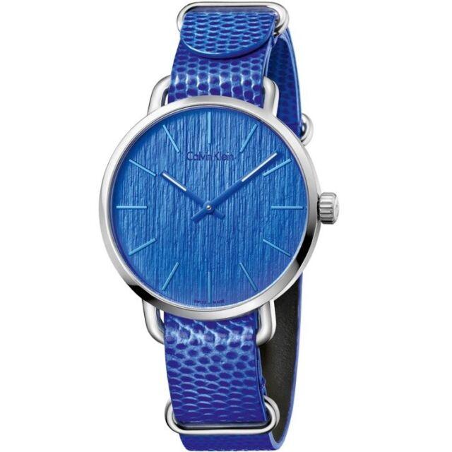 Calvin Klein Even K7B211VN Stainless Steel Case Blue Dial & Strap Swiss Made