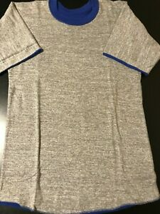Vintage-80s-Russell-Athletic-Reversible-Grey-Blue-T-Shirt-Roll-Up-Sleeve-Gym