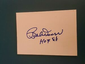 Bobby Doerr Signed Index Card 3X5 AUTO HOF 1986 inscribed hof Autograph