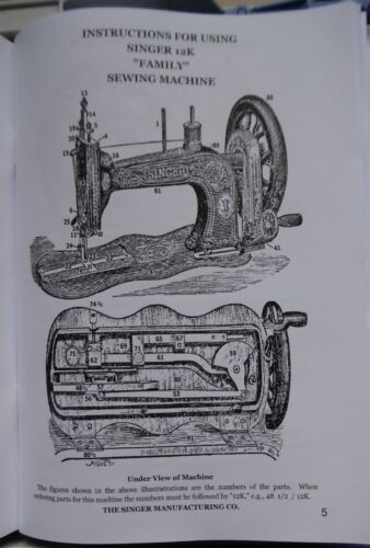 Sewing Machine Manual 32 Page Double Manual & 13K Family SINGER ...