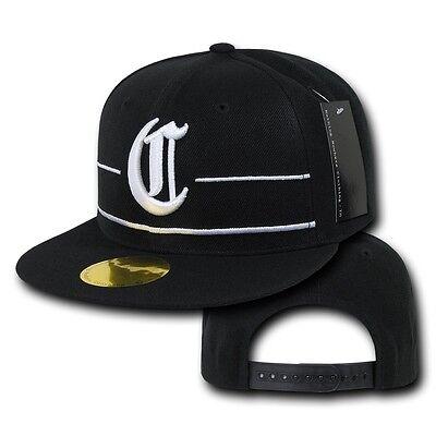 Black Compton Vintage Embroidered Hip Hop Flat Bill Snapback Snap Back Cap Hat