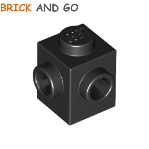 noir, black Brick Studs On 2 Sides Corner NEUF NEW 2 x LEGO 26604 Brique 1x1