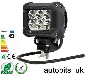12V-24V-18W-LED-Travail-Spot-Feu-Lampe-Voiture-Jeep-Camion-Bateau-Atv-Chassis