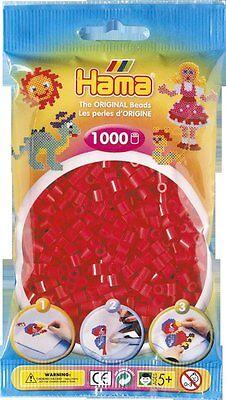 Pack of 1000 Hama Midi Beads - Red (207-05)