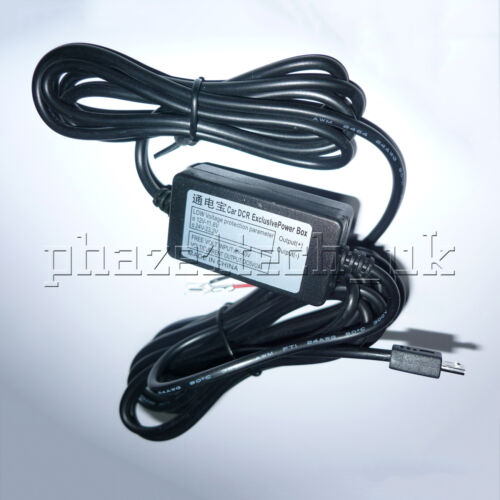 Micro USB Phone Auto Mobile GPS DVR Cam Hardwire Kit 12V-24V to 5V 2A Charger 3M