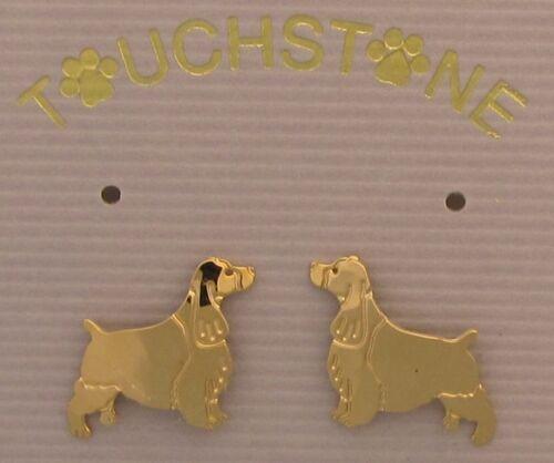 English Springer Spaniel Gold Post Earrings