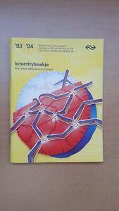 ► NS Nederlandse Spoorwegen: Intercityboekje 1993-1994