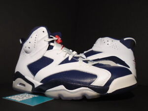 low cost a6577 ed25c Image is loading Nike-Air-Jordan-VI-6-Retro-OLYMPIC-WHITE-