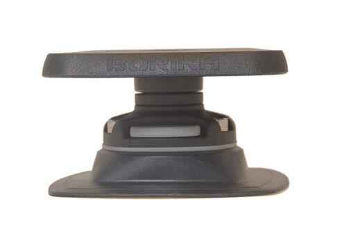 + Halterung PVC Basis 110x110mm Set: Fasten Plattform 100x100mm zum kleben