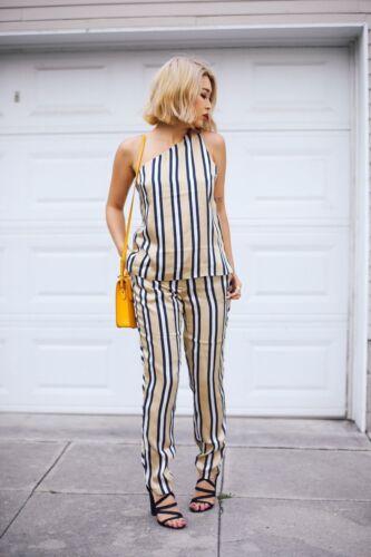 either a righe pajama Pantalone M Custodi scuro a Finders e bianche Way blu vita alta gR4gqF7K