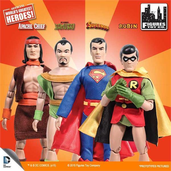 Super - freunde, reihe 1, 4, samauri, robin, superman 8 zoll zahlen meisten