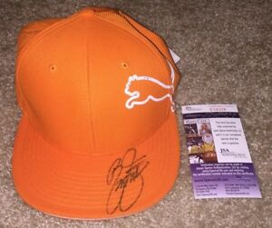 RICKIE-FOWLER-SIGNED-ORANGE-PUMA-HAT-MASTERS-US-OPEN-RYDER-CUP-PRESIDENTS-JSA