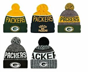 Green-Bay-Packers-Cuffed-Beanie-Knit-Winter-Cap-Hat-NFL-Authentic