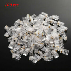 Wholesale-100x-RJ45-Network-Modular-Plug-8P8C-Cable-Connector-Not-Pass-Through