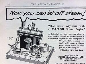 Image is loading M6-9d-ephemera-1950s-advert-mamod-steam-engine-