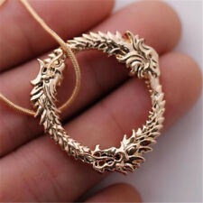 Elder Scrolls Tes Skyrim Design Popular Gold Dragon Ring Pendant Necklace For Sale Online Ebay