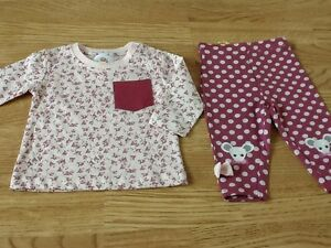 Girls' Clothing (newborn-5t) Ingenious New Baby Girls Size 0-3 Months Cute Pink Flowered Top & Pink Spotty Leggings Fixing Prices According To Quality Of Products Baby & Toddler Clothing
