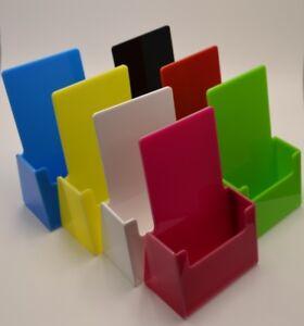 Colour plastic leaflet holder menu counter dispenser business card image is loading colour plastic leaflet holder menu counter dispenser business reheart Images