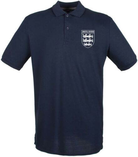 Bristol Rovers 3 Lions Club And Country Small Crest Polo Mens