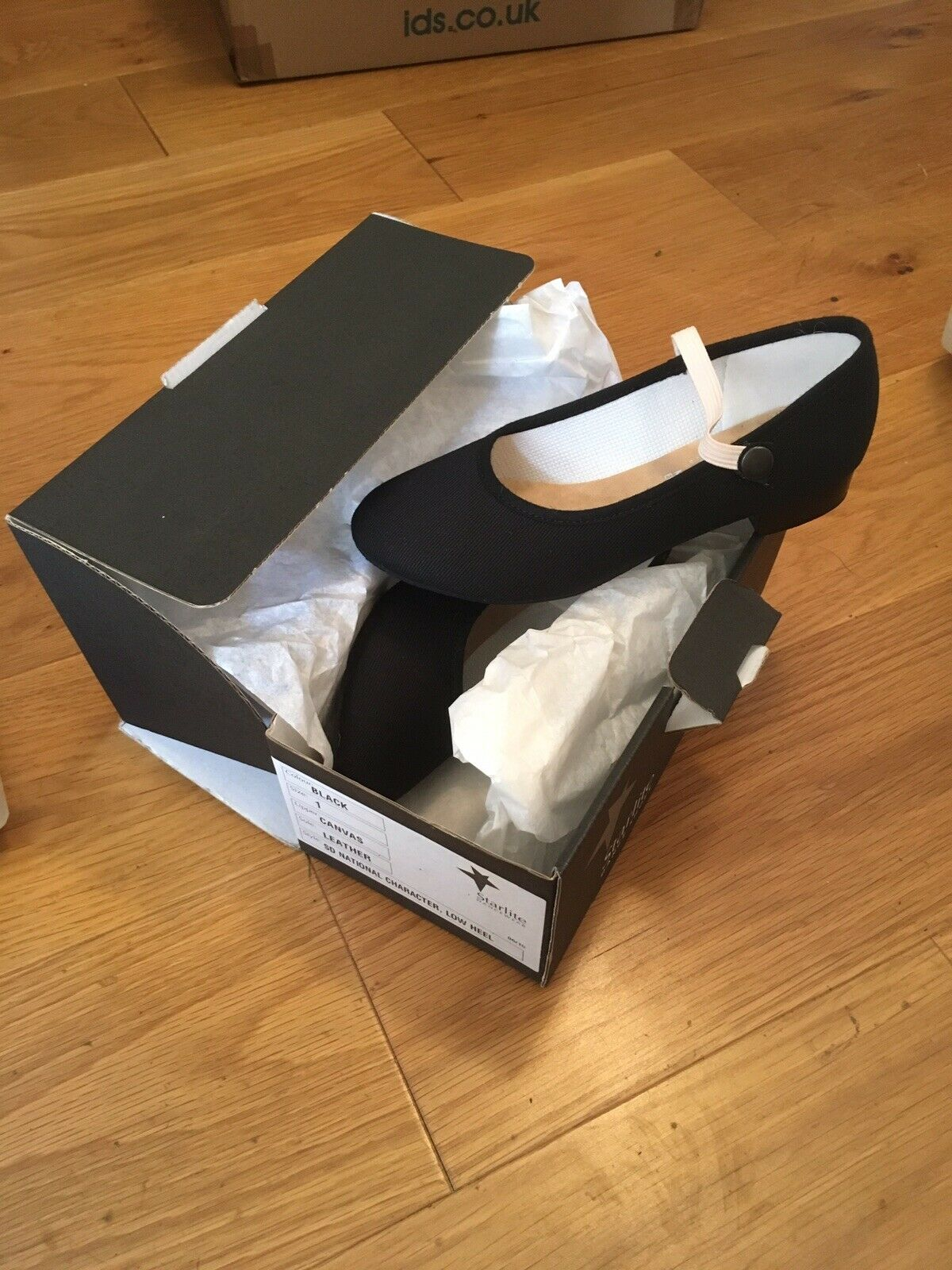 Character Shoes (RAD Exam Regulated), Low Heel, UK Size 11, Brand New With Box