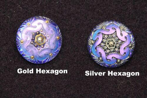 Susan Clarke Original Czech Glass Buttons Rare Colors!!