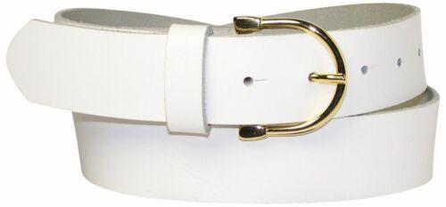 FRONHOFER Damengürtel 3,5 cm goldene Hufeisen Schnalle echt Leder