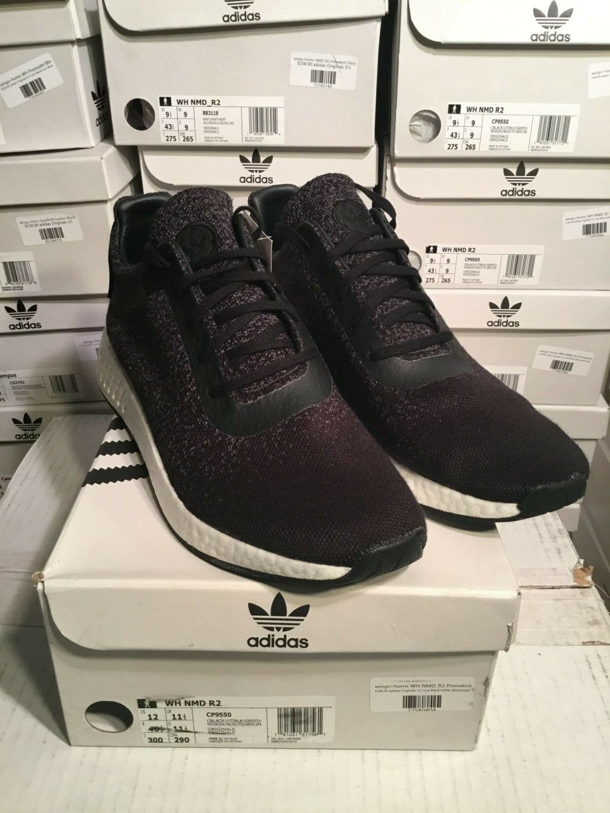 SALE Adidas Consortium Consortium Consortium X Wings + Horns WH NMD R2 Black CP9550 Size 8.5-12 cf3854
