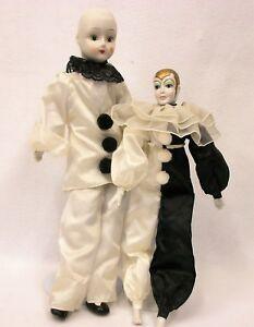 Pair Of Pierrot Boudoir Dolls Estate Items Ebay