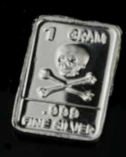 Knights Templar Crusades Memento Mori Skull Silver Gram Bar Token Box Case $ SLV