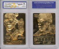1996 Allen Iverson Fleer Flair Rc 23k Gold Gem Mint 10