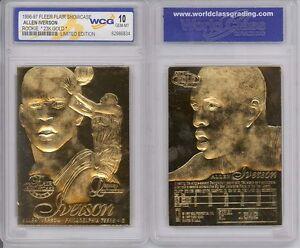 1996-ALLEN-IVERSON-FLEER-FLAIR-RC-23K-GOLD-GEM-MINT-10