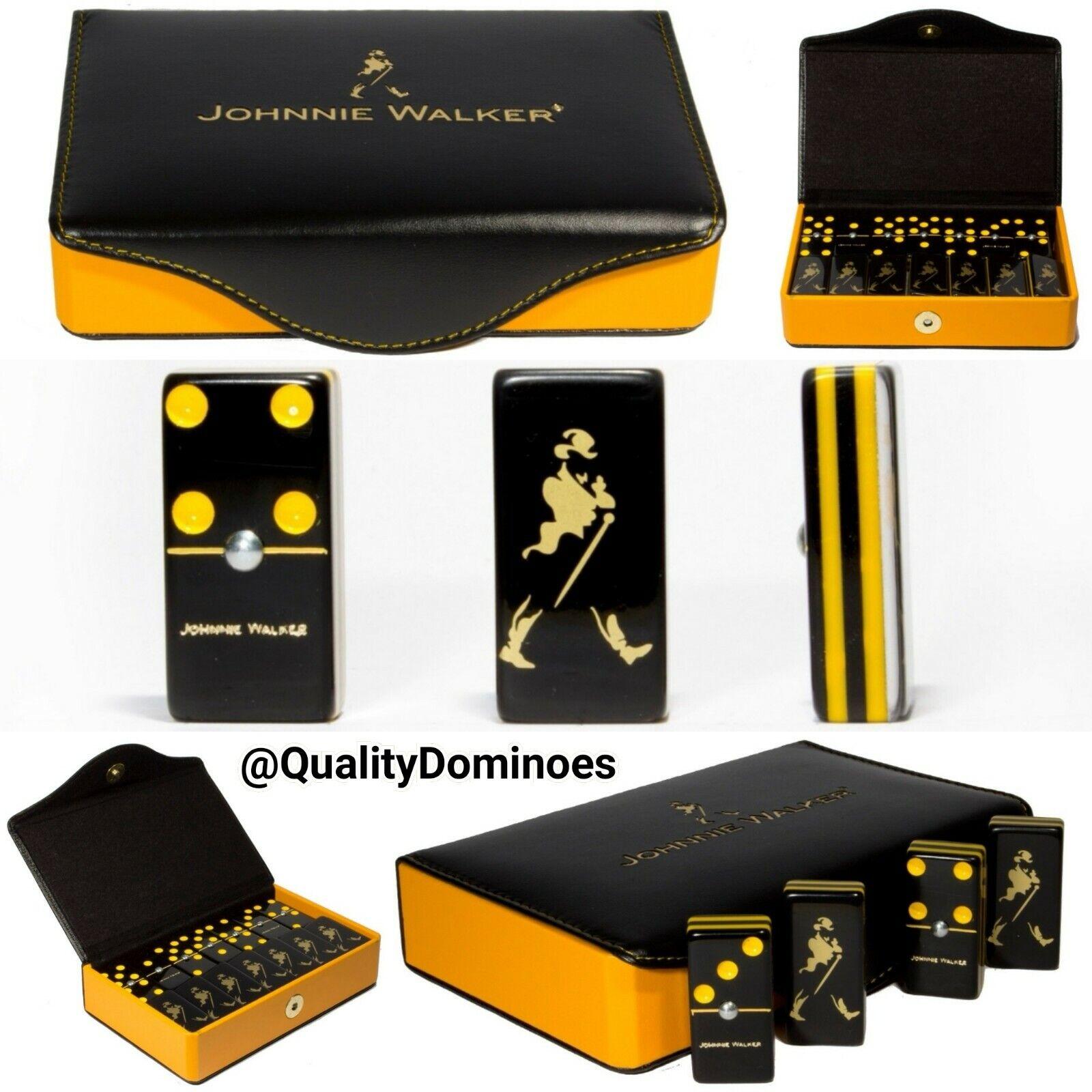 Johnnie Walker Whisky Domino Game Set Jumbo Größe Man Sie Gift Dominoes Man Cave