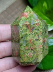 ONE-1-UNAKITE-Chunky-Abstract-Generator-Crystal-Reiki-Charged-Read-Below