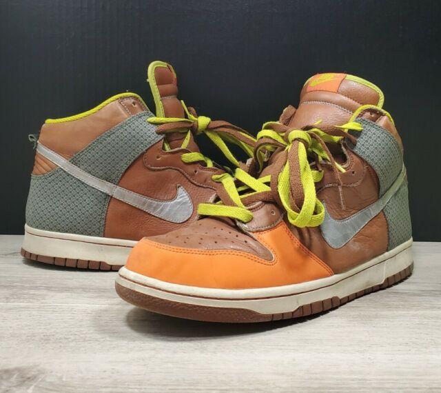 2007 Nike Dunk High Premium Orange Blaze/Blur/Cognac SB Size 12 #312786 891
