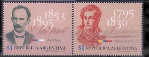 (1995) Gj.2710-11. Figures Historiques. 2-stamp Set. Neuf Sans Charnière. Excellent état.-afficher Le Titre D'origine Design Professionnel