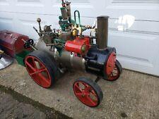 3 Long Antique 1928 Hand Built Live Steam Model Traction Engine Tractor Cretors