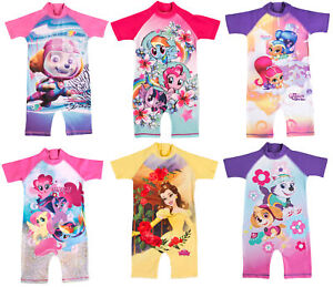 3250fc5a8b Image is loading Girls-Character-UV-Protection-Sunsafe-Sunsuit-Swimsuit -Swimming-
