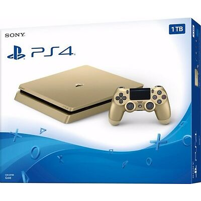 PlayStation 4 Slim PS4 Limited Edition Gold 1 TB Konsole