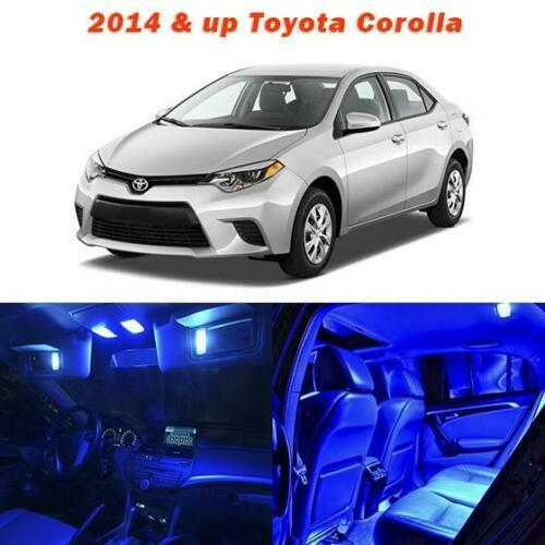 For Toyota Corolla 2000-2015 8x Blue Lights SMD LED Interior Package License Kit