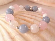 Fertility Angel Healing Reiki Bracelet Angelite Moonstone Alabaster PhoenixStone