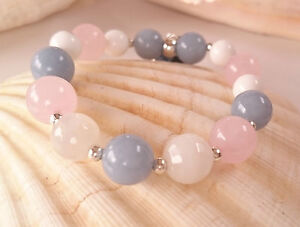 Image Is Loading Fertility Angel Healing Reiki Bracelet Angelite Moonstone Alabaster