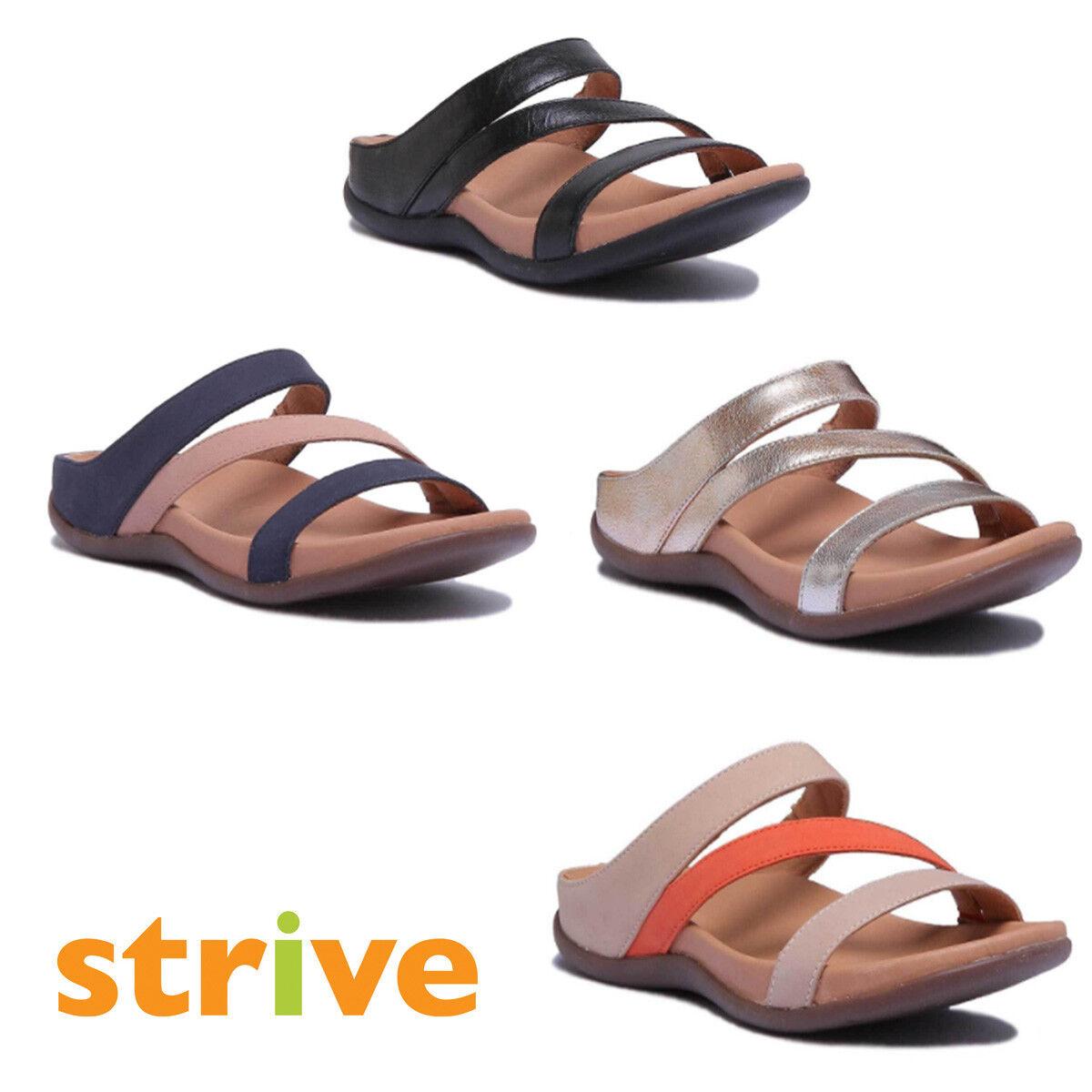 Strive Trio Women Nubuck Leather Oxford Tan Tiger Lily Strappy Sandals Size 3 -