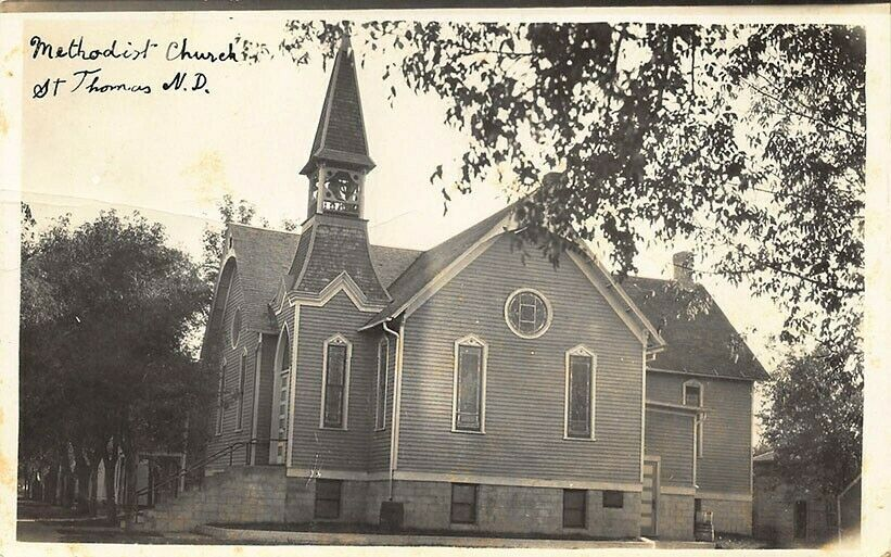 St Thomas ND Methodist Church Real Photo Postcard