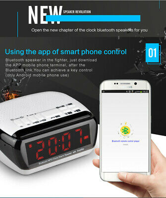 MX-18 bluetooth Alarm Clock FM/AUX/TF/Mp3 Android phone remote Control |  eBay