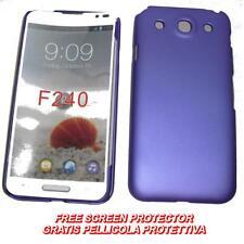 Pellicola+custodia BACK COVER RIGIDA VIOLA per LG Optimus G Pro E985 E980 (B2)