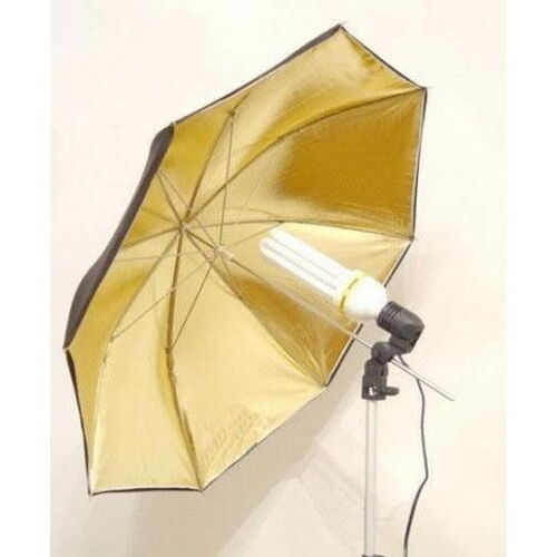 33'' Black Gold Golden Studio Flash Light Reflector Photography Umbrella 83cm
