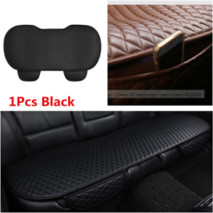 New Black PU Leather Car Seat Cover Rear Seat Cushion Mat Protector Non-slip Mat