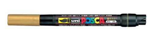 Uni Posca PCF-350 Brush Tipped Fabric Metal Stone Porcelain Artists Marker Pen