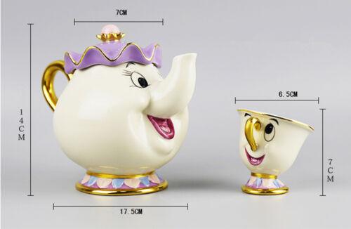 Potts Chip Tea Pot and Cup Set Disney Beauty And The Beast Teapots Mugs Mrs