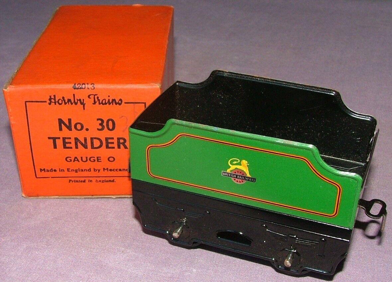 HORNBY O Gauge No.30 Tender BR Grün - excellent unused condition - Boxed